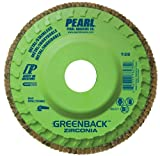 Pearl GREENBACK 4-1/2'' x 7/8''Trimmable Zirconia Flap Disc - 40 GRIT (Pack of 10)