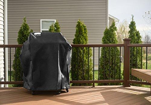 Housse de protection Texas Grill pour Barbecue Grill Weber Spirit 200 300 et Genesis Silver A//B Brosse et pince /à barbecue inclus! Protection sur mesure pour grill Gratuit