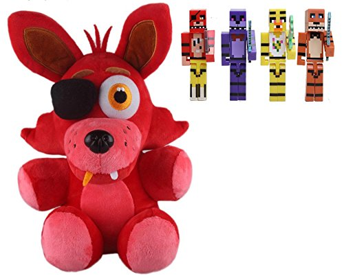 Freddy Fazbear Costume Real (Five Nights At Freddy's 4 FNAF FOXY FOX Plush Toy for Boys and Girls)