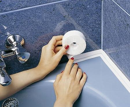 Wenko 5652351 Cinta Tapa Juntas Impermeable, Blanco 350x3x3 cm: Amazon.es: Bricolaje y herramientas