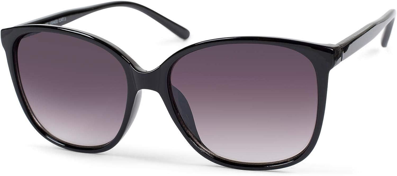 styleBREAKER Damen Sonnenbrille Oversize mit ovalen Polycarbonat Gläsern und Kunststoff Gestell -