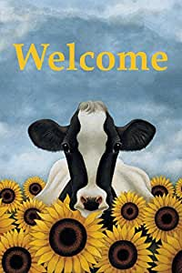 """LANG - Mini Garden Flag - """"Surrounded by Sunflowers """", Exclusive Artwork by Lowell Herrero - All-Weather, Fade-Resistant Polyester  - 12"""" w x 18"""" h"""