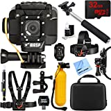 Cobra WASPcam 9905 Wi-Fi Action Camera + 32GB Outdoor Mount Kit