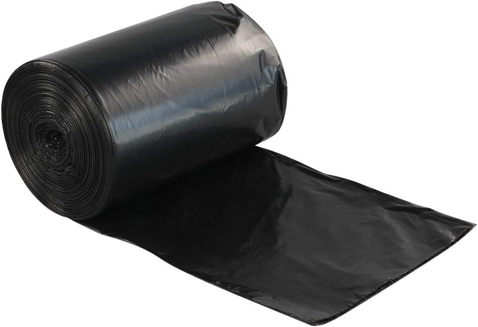Lesbye Bolsas Basura 200 litros, Negro Bolsas Plastico Basura Grande 70 Bolsos