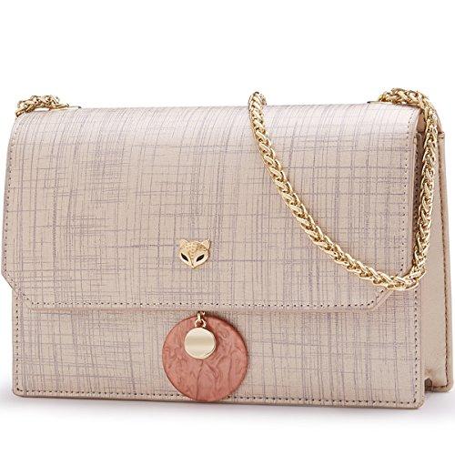 Crossbody Shoulder Bag Bag Leather Women Small Gold Crossbody Purse FOXER TqUCnxwa