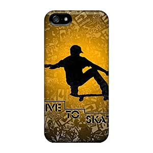 Unique Design Iphone 5/5s Durable Tpu Case Cover Live To Skate