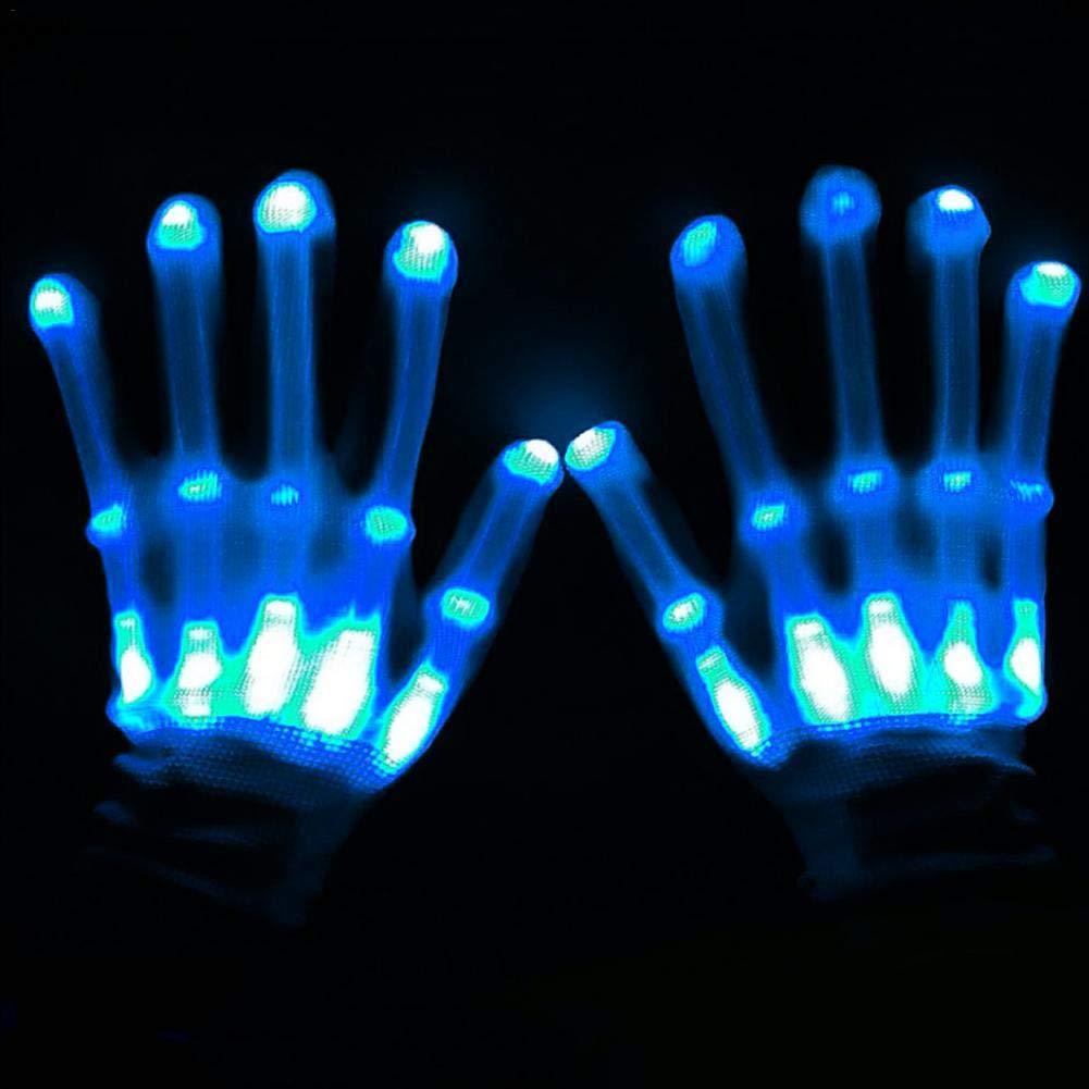 Regenbogen-Licht B/ühnenhandschuhe LED Beleuchtung Dekorative Handschuhe LED Flash Handschuhe Spielzeug Licht Urlaub Party Neue super hell Regenbogenbeleuchtung B/ühnenleistung rot