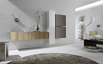 Web Convenienza Cube 3 M Rovere Miele Bianco Lucido e Beige ...