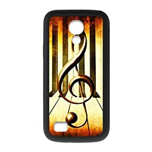 SamSung Galaxy S4 mini Case,Vintage Music Note Music Symbol Piano Keys Hign Definition Retro Design Cover With Hign Quality Rubber Plastic Protection Case