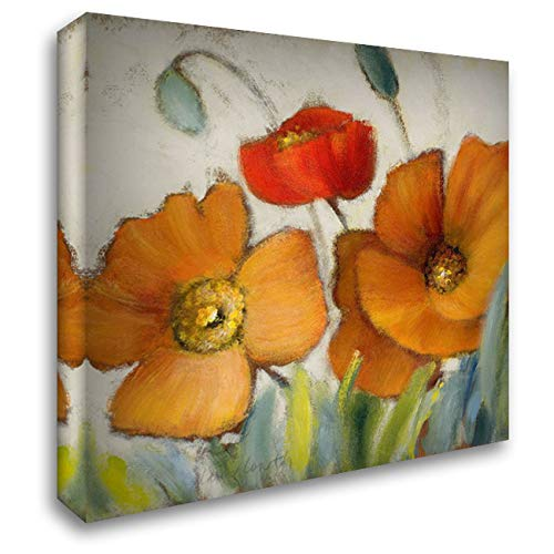 Poppy Splendor Square III 28x28 Gallery Wrapped Stretched Canvas Art by Loreth, Lanie