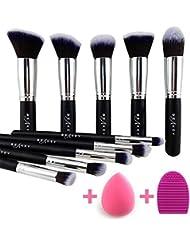 BEAKEY Makeup Brush Set, Premium Synthetic Kabuki Foundation...