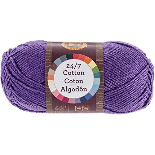 Lion Brand Yarn 761-147 24-7 Cotton Yarn, Purple ()