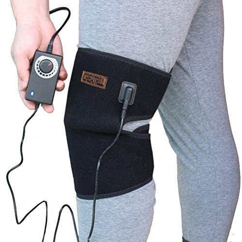 CREATRILL Heated Knee Brace Wrap Thermotherapy Heating Pad for Knee Injury Recovery Hot Therapy Pain (Heat Therapy Pain)