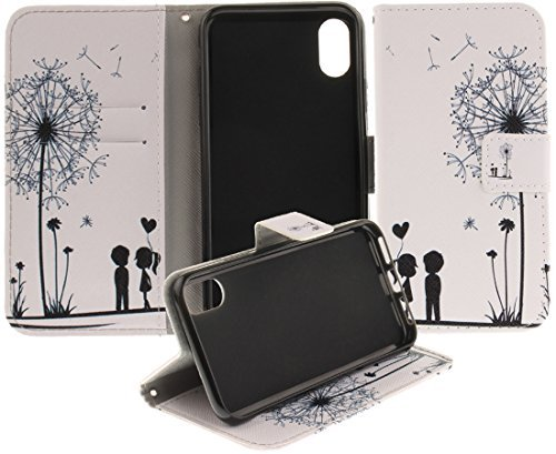 eloiro iPhone X/10Case, Ultra Slim titular de la tarjeta cartera funda de piel folio Funda Flip Cover [Soporte Tipo Libro]...