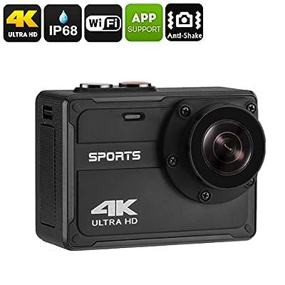 étanche 4K Sports Camera–IP68, résolution 4K, 150-degree View, écran 5,1cm, 30fps, anti Shake, APP support, WiFi, 800mAh
