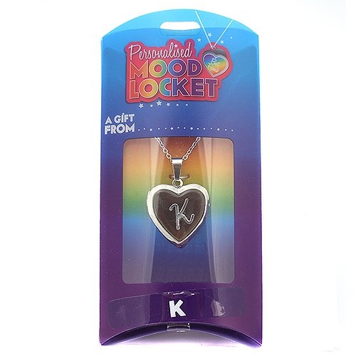 Personalised Mood Locket Necklace - INITIAL K