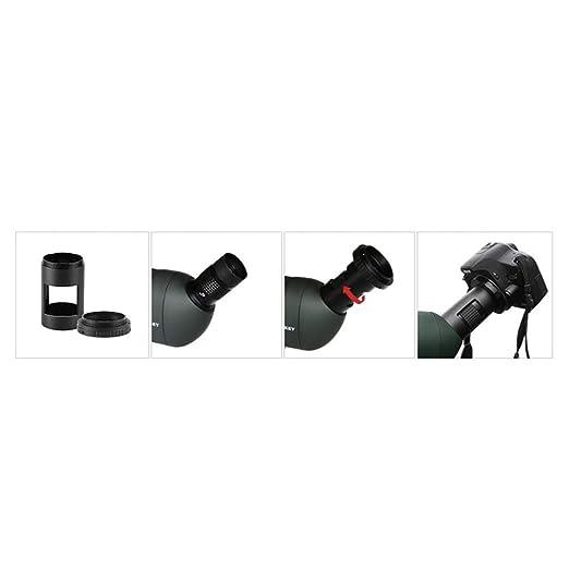 F Fityle Adaptador de Cámara T-Ring para Canon DSLR SLR + 42mm ...