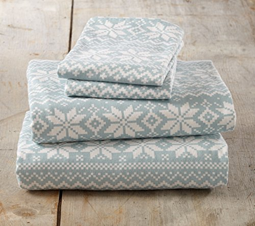 Stratton Collection Extra Soft Printed 100% Cotton Flannel Sheet Set. Warm, Cozy, Lightweight, Luxury Winter Bed Sheets. By Home Fashion Designs Brand. (Queen, Taupe Stripe)