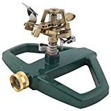 : Melnor Impact Lawn Sprinkler, Metal Head & Metal Sled, Adjustable Angle and Distance, Waters Up to 85' Diameter Circle