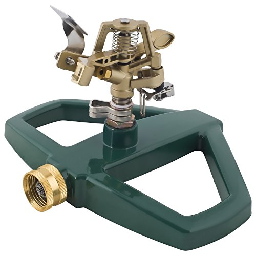 Melnor Impact Lawn Sprinkler, Metal Head & Metal Sled, Adjustable Angle and Distance, Waters Up to 85' Diameter...