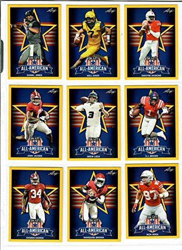 Leaf Complete 2019 NFL Draft Gold 103 Card Rookie Set/LOT! (3) Kyler Murray Inserts!