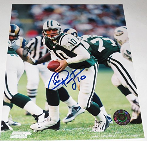 Pennington Autograph (CHAD PENNINGTON SIGNED 8X10 PHOTO AUTOGRAPH NEW YORK JETS MARSHALL AUTOGRAPH COA)