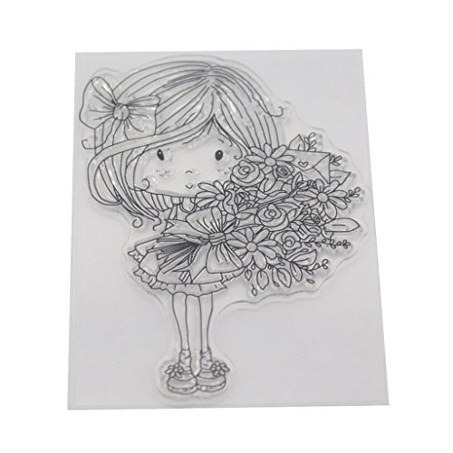 - Ladaidra Litter Girl Clear Silicone Seal Stamp DIY Album Scrapbooking Photo Card Decor