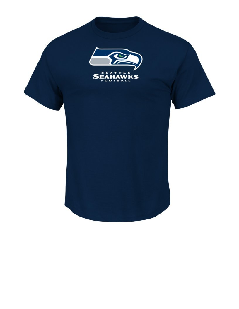 NFL Seattle Seahawks Men's UP4 Tee, Navy, Medium VF Imagewear- NFL D952-4506-78-UP4