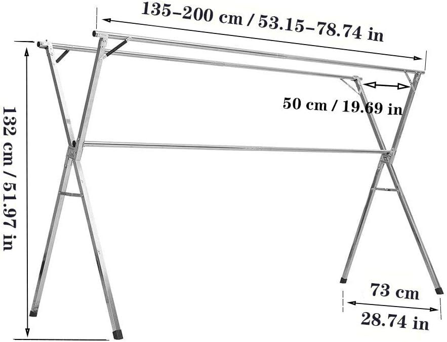 pour Int/érieur Et Ext/érieur Compacte /Étendoir /À Linge Pliable Easy-Lift,2.0 Grande Surface D/étendage S/échoir sur Pied Extensible XNDCYX S/échoir /À Linge /Étendoir