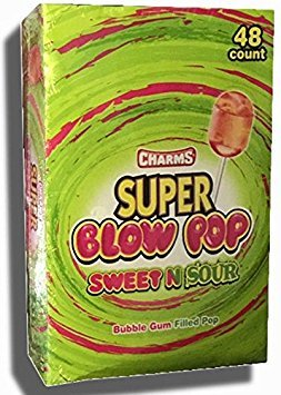 - Charms Super Blow Pops - Sweet & Sour 48 ct