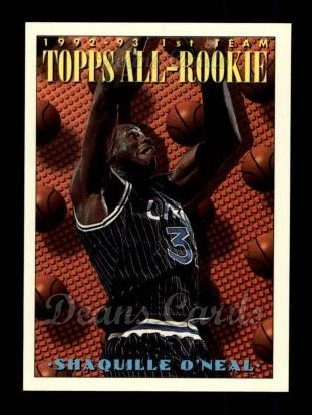 Amazoncom 1993 Topps 152 All Rookie Team Shaquille O