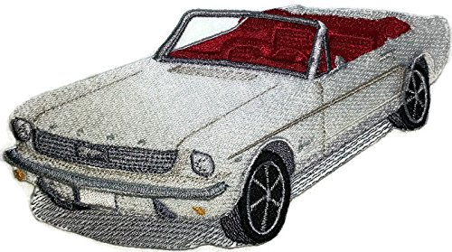 Classic Cars Collection [1964 Ford Mustang] [American Automobile History in Embroidery] Embroidered Iron On/Sew patch [6.5