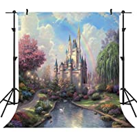 OUYIDA Fairy Tale Castle 10X10FT Seamless CP Pictorial cloth photography Background Computer-Printed Vinyl Backdrop TP50B