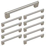10 door handle - Homidy Kitchen Cabinet Pulls 160mm Hole Distance Brushed Nickel Modern Boss Bar Cabinet Door Handles and Knobs 10 Pack