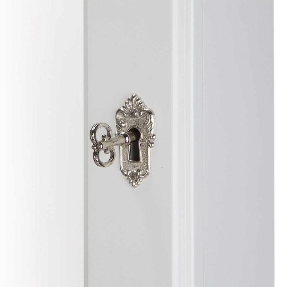 Homegear Modern Mirrored Jewelry Cabinet with Stand Armoire Organizer Storage White by Homegear (Image #5)