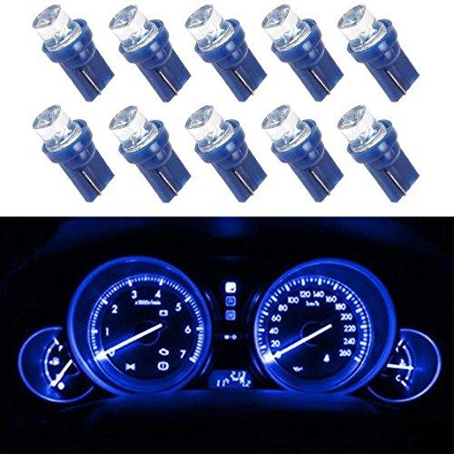 Partsam Blue 10pcs T10 194 Speedometer Tachometer Odometer Gauge Cluster LED Ligth Bulbs for Instrument Panel Dashboard (2003 Chevy Tahoe Speedometer)