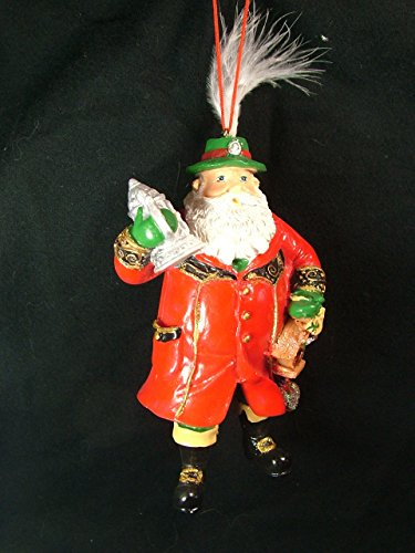 German Stein Santa Claus Yule Father Christmas Saint Nicholas Tree Ornament