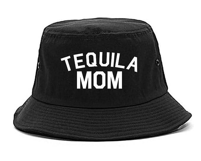 976a6596339 Amazon.com  Tequila Mom Funny Bucket Hat Black  Clothing