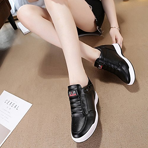e0c6342e23c3 GIY Womens Increased Height Tennis Platform Sneakers - High Top Hidden Heel  Wedge Sport Bootie Shoes