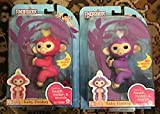 Fingerlings Interactive Baby Monkeys 2 Pack- Mia (purple with white hair)& Bella (pink with yellow hair)