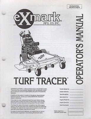 Read Online EXMARK TURF TRACER MODELS OPERATOR'S MANUAL P/N 103-1558 (530) pdf