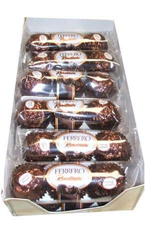 Amazoncom Ferrero Rondnoir Dark Chocolate Rocher 3 Piece Sleeves