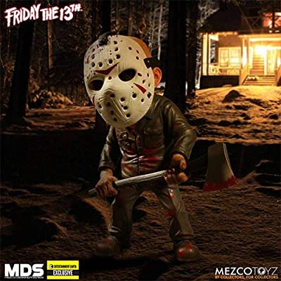 Mezco Friday the 13th Jason GITD Mask Action Figure - EE Exclusive: Toys & Games