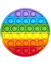 AHEYE Push pop-pop Bubble Sensory Fidget Toy,Squeeze Sensory Toy for Kid and Adult,Autism Special Needs Stress Reliever Silicone Squeeze Sensory Toy (Round Colorful)…