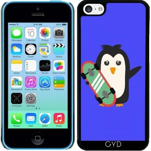 Coque pour Iphone 5c - Pingouin Planche à Roulettes by ilovecotton
