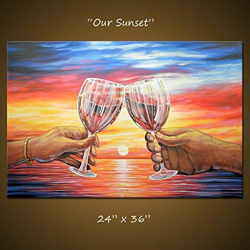 Amazon Art Painting Sunset Modern Dining Room Bar Decor Wine