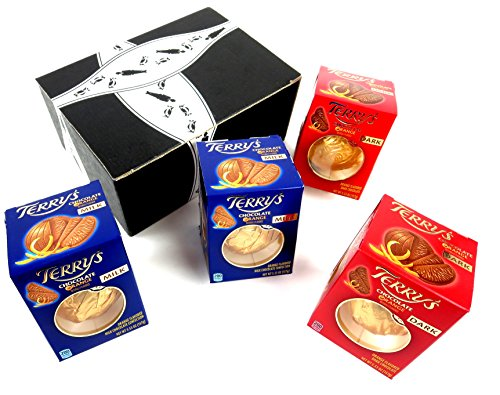 Terry's Chocolate Oranges 2-Flavor Variety: Two 5.53 oz Packages Each of Dark and Milk in a BlackTie Box (4 Items Total)