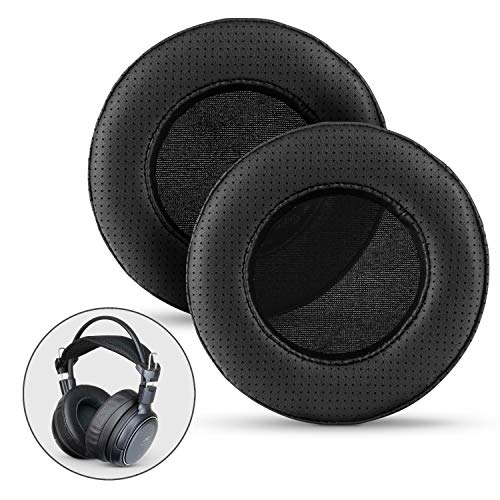 BRAINWAVZ XL Large Replacement Memory Foam Earpads - Suitable for Many Other Large Over The Ear Headphones - Sennheiser, AKG, HifiMan, ATH, Philips, Fostex, Sony (Perforated)