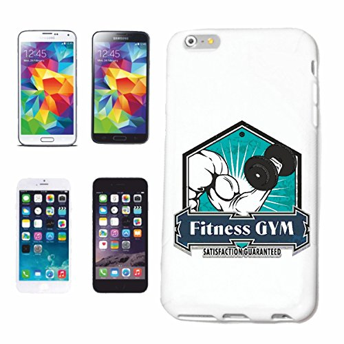 "cas de téléphone iPhone 7S ""FITNESS GYM BODYBUILDING GYM Musculation GYMNASE muskelaufbau SUPPLEMENTS WEIGHTLIFTING BODYBUILDER"" Hard Case Cover Téléphone Covers Smart Cover pour Apple iPhone en blanc"