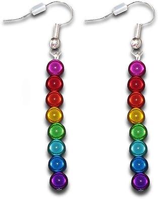 LGBTQ Pride Flag Gemstone Drop Earrings